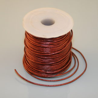 Leather Cord - Metallic Maroon