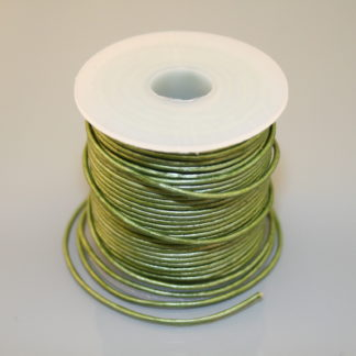 Leather Cord - Metallic Green