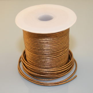 Leather Cord - Metallic Golden Brown