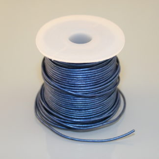 Leather Cord - Metallic Blue