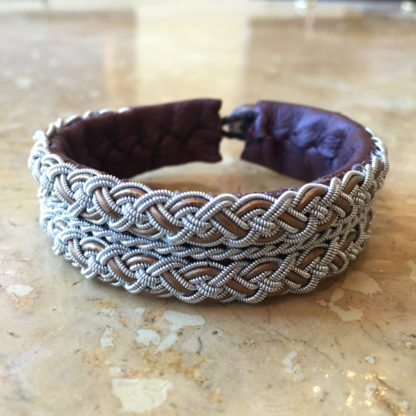 Examples of the leather cord in bracelets.