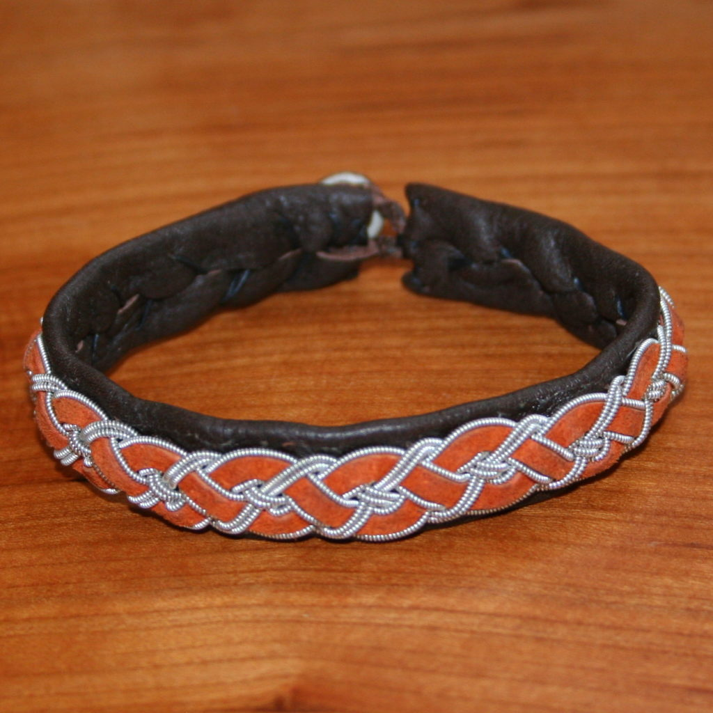 Colored Leather Four Braid Bracelet