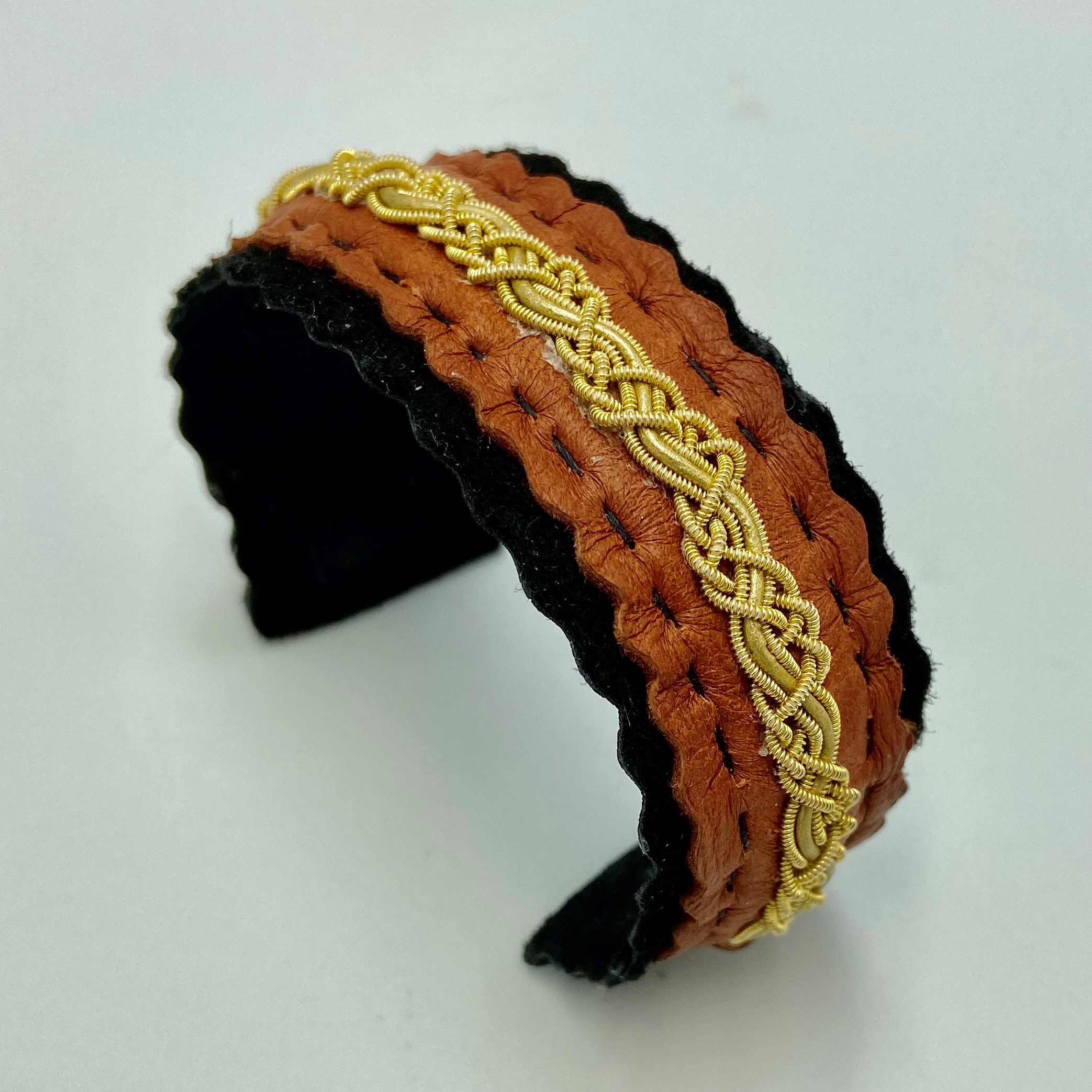 Sami Inspired Leather Cuff